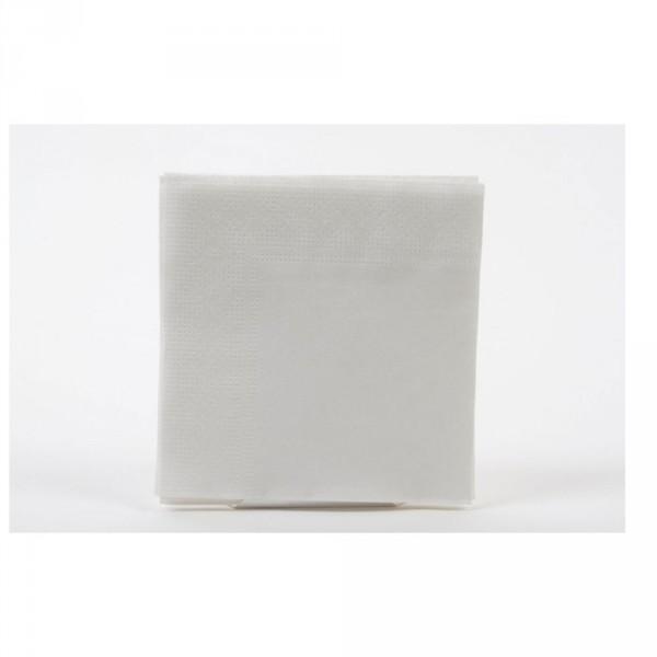 Tafelserviette weiß 24x24 cm, 2-lagig 1/4