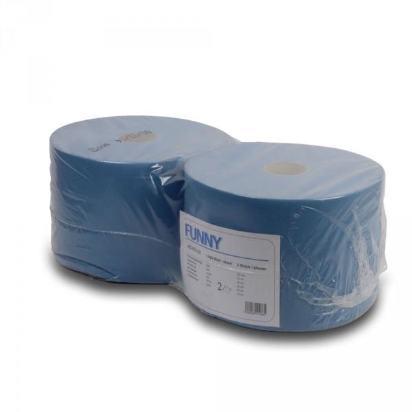 Wischtuch Combirolle schmal, 2-lagig blau