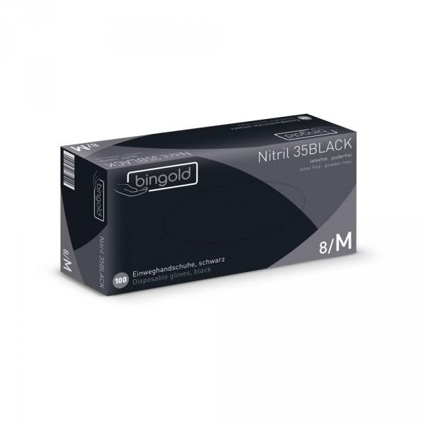 Nitrilhandschuhe puderfrei, schwarz