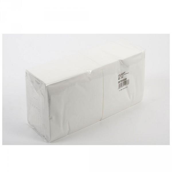 Tafelserviette weiß 33x33 cm, 2-lagig 1/4 oder 1/8