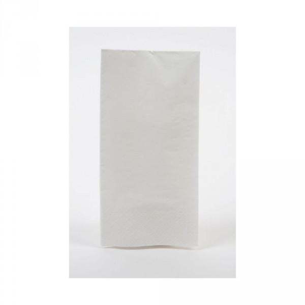 Tafelserviette weiß 40x40 cm, 2-lagig 1/8