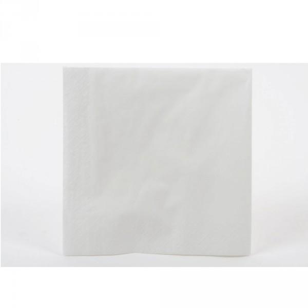 Tafelserviette weiß 40x40 cm, 2-lagig 1/4